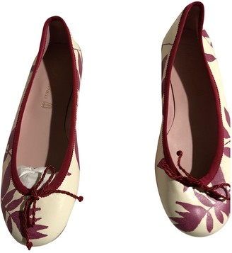 Pretty Ballerinas Red Leather Ballet flats