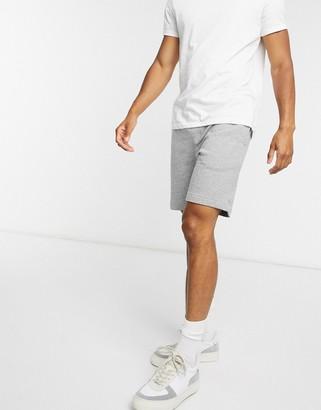 Selected sweat short in grey