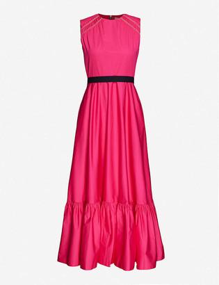 Roksanda Blaise sleeveless frill-trim cotton maxi dress