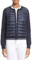 Moncler Women's Quilted Down Front Knit Cardigan