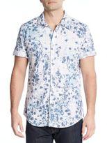 Calvin Klein Jeans Botanical-Print Cotton Short Sleeve Shirt