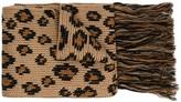 Alanui leopard print fringed scarf