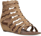 Carlos by Carlos Santana Kitt Cut-Out Wedge Sandals
