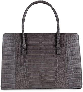 Nancy Gonzalez Medium Button Crocodile Leather Tote
