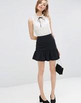 Asos Mini Skirt with Pep Hem in Texture