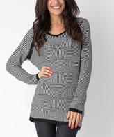 Yuka Paris Black & Ivory Dolman Sweater