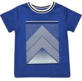 River Island Mini boys blue mesh print t-shirt
