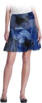 Watercolor Silk Tulip Skirt
