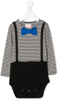 Wauw Capow By Bangbang striped Dexter bodysuit