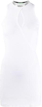 Aries keyhole cotton mini dress
