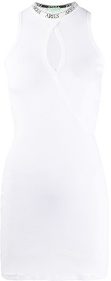 Aries Keyhole Cotton Mini Dress