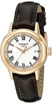 Tissot Women's T0852103601300 Analog Display Swiss Quartz Brown Watch