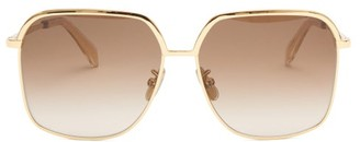 Celine Square Metal Sunglasses - Gold