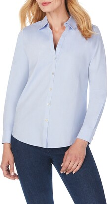 Foxcroft Chrissy Non-Iron Button-Up Shirt