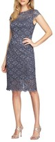 Alex Evenings Petite Women's Lace Sheath Dress