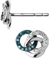 Links of London Treasured Sterling Silver White & Blue Diamond Earrings