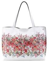 Elliott Lucca Floral Printed Reversible Faux Leather Tote