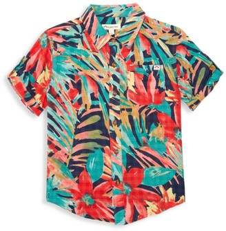 Appaman Little Boy's & Boy's Tropical-Print Shirt
