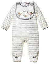 Juicy Couture Striped One-Piece with Bib Set