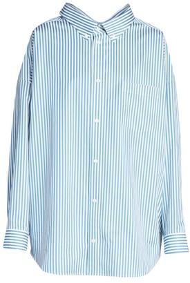 Balenciaga Pinstripe Swing Shirt