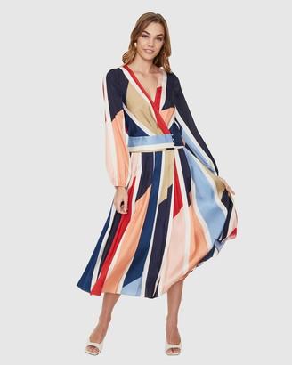 Cooper St Charlie Pleated Midi Dress