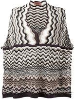 Missoni wave knit poncho
