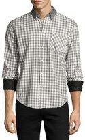 Rag & Bone Yokohama Slim-Fit Check Flannel Shirt, White/Gray