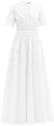 Maison Rabih Kayrouz Shirred-waist Poplin Dress - Womens - White
