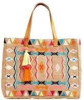 Seafolly Embroidered Folk Jute Bag