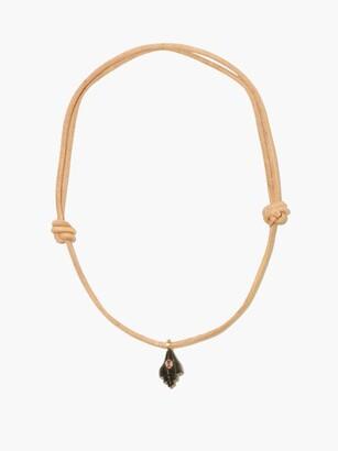 Dezso Garnet, Tiger's Eye & 18kt Rose-gold Necklace - Blue Multi