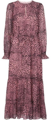 Whistles Wild Cat Tiered Dress