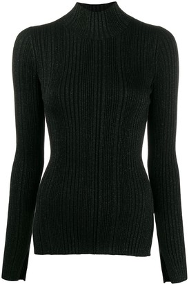 Helmut Lang Striped Roll Neck Sweater