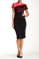 Alexia Admor Colorblock Short Sleeve Sheath Dress