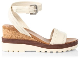 See by Chloe Robin Leather Platform Wedge Sandals