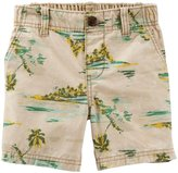 Carter's Print Khaki Shorts (Toddler/Kid) - Island Print-5