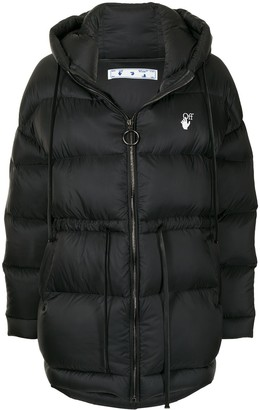 Off-White Hooded Short Padded Coat