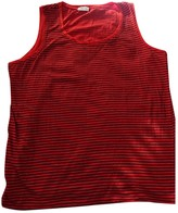 Pablo Red Cotton Top for Women