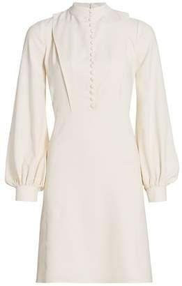 Chloé Light Cady Puff-Sleeve Dress