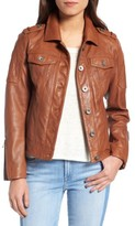 BCBGeneration Women's Leather Trucker Jacket
