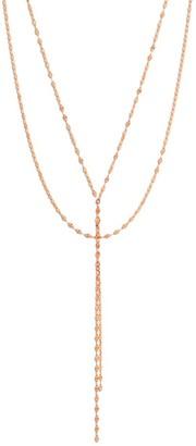 Lana Blake 14K Rose Gold Lariat Necklace