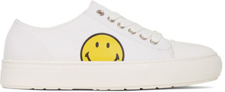 Joshua Sanders White Smiley Edition Low-Top Sneakers