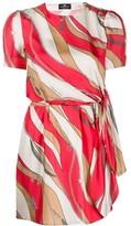 Elisabetta Franchi short sleeve chain print dress
