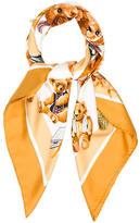 Hermes Confidents Des Coeurs Silk Scarf