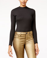 Material Girl Juniors' Rib-Knit Mock-Neck Bodysuit, Only at Macy's