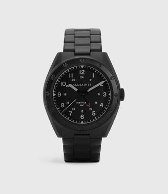 AllSaints Subtitled GMT V Matte Black Stainless steel Watch
