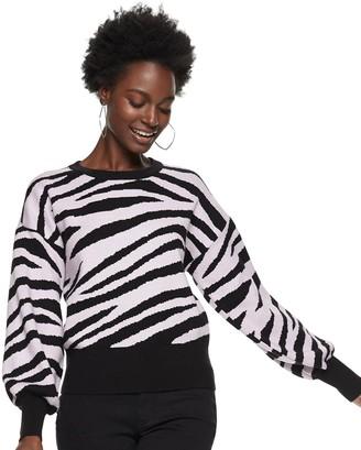Nine West Women's Zebra Print Sweater