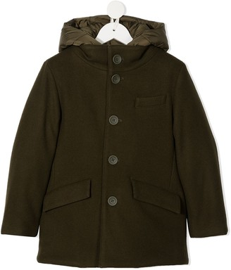 Herno Button-Down Hooded Coat