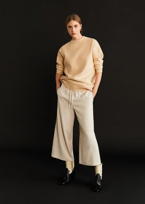 MANGO Drawstring culottes pants off white - XXS - Women