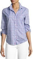 Frank And Eileen Barry Long-Sleeve Button-Down Shirt, Blue Pattern