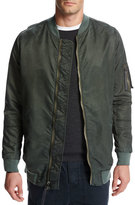 Vince Elongated Aviator Jacket, Green/Orange